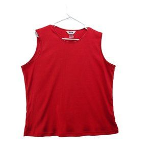 ARIA Women's Red Tank Top Size Large